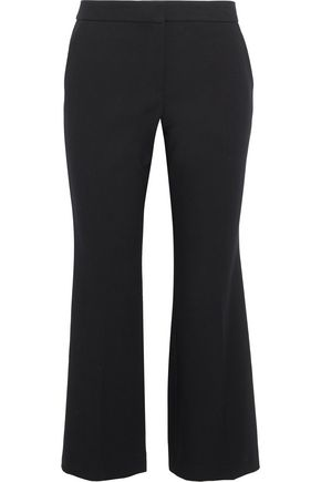 TIBI Anson striped crepe kick-flare pants