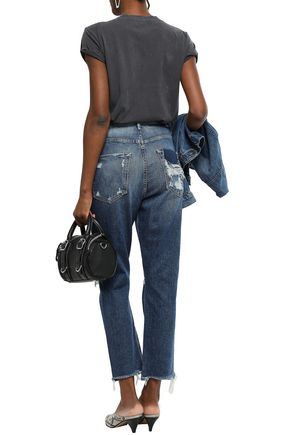 MOTHER Distressed boyfriend jeans