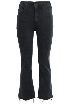 MOTHER Frayed high-rise kick-flare jeans