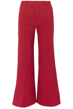 SEE BY CHLOÉ Cotton-blend twill wide-leg pants