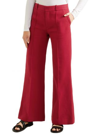 SEE BY CHLOÉ Cotton-blend twill bootcut pants