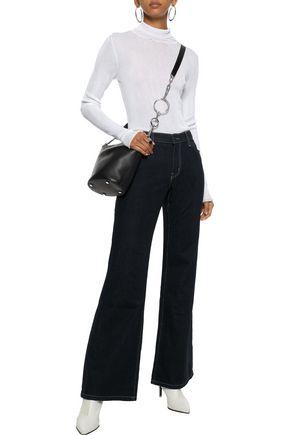 Current Elliott Current/elliott Woman The Wray Mid-rise Flared Jeans Dark Denim