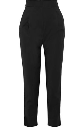 TIBI Pleated crepe tapered pants