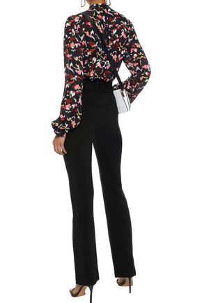 A.L.C. Morgan belted stretch-crepe bootcut pants