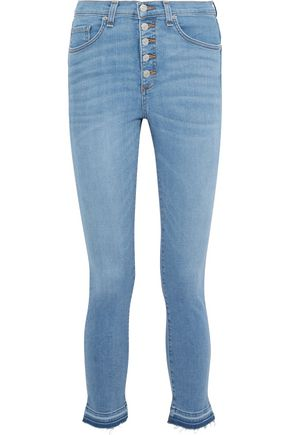VERONICA BEARD Debbie faded high-rise skinny jeans