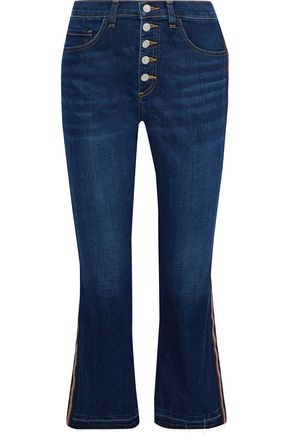 VERONICA BEARD Carolyn cropped high-rise bootcut jeans