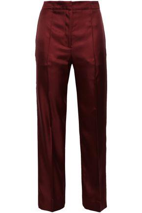 PRINGLE OF SCOTLAND Silk-twill straight-leg pants