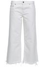 SIMON MILLER Cropped frayed mid-rise straight-leg jeans