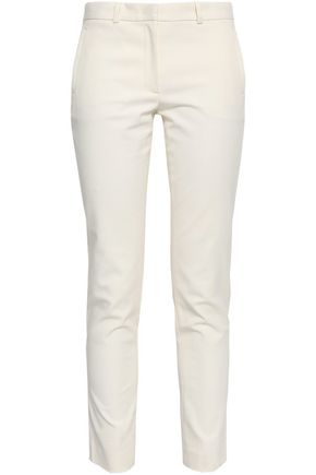 JOSEPH New Eliston cropped stretch-cotton twill slim-leg pants