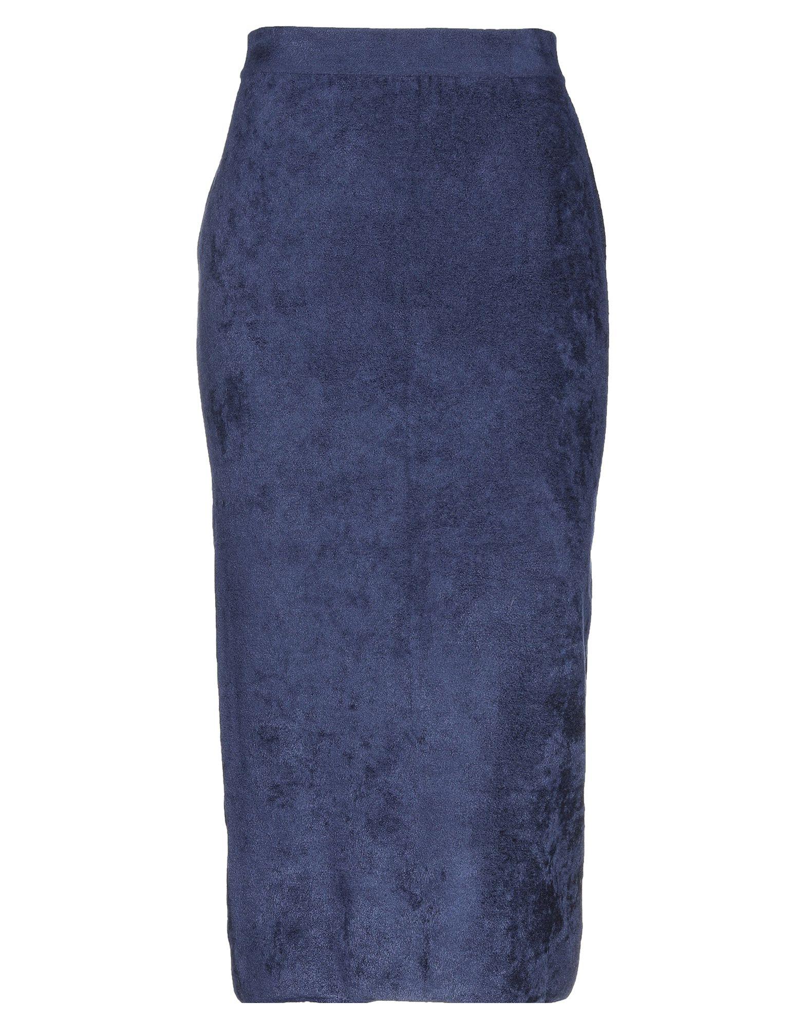 《セール開催中》ALBERTA FERRETTI レディース 7分丈スカート ブルー 46 レーヨン 64% / ナイロン 36%