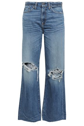 SIMON MILLER Basin distressed high-rise wide-leg jeans