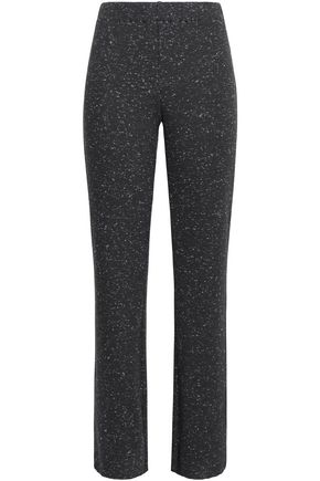 SIMON MILLER Cyrene ribbed marled cotton-blend jersey straight-leg pants