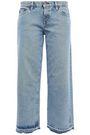 SIMON MILLER Kara cropped frayed mid-rise straight-leg jeans