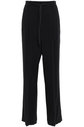 VINCE. Satin-crepe wide-leg pants