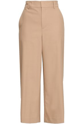 VINCE. Cropped stretch-wool wide-leg pants