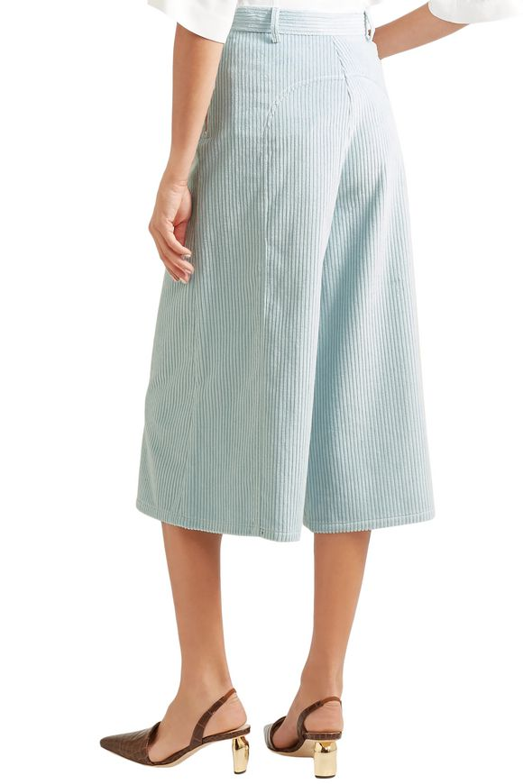 eb5a2d8a30 Cotton-blend corduroy culottes   SEE BY CHLOÉ   Sale up to 70% off ...