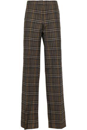 PRINGLE OF SCOTLAND Checked wool wide-leg pants