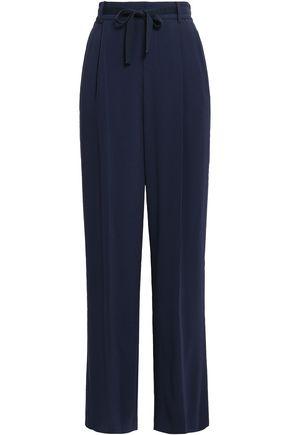 VINCE. Satin-crepe wide-leg pants