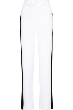 CAROLINA HERRERA Two-tone crepe wide-leg pants