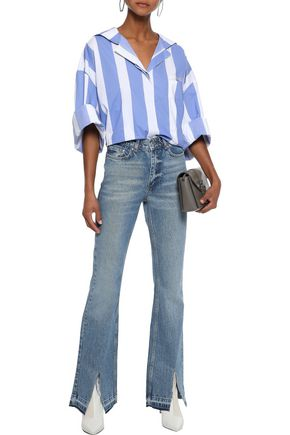 ANINE BING Roxanne faded high-rise flared jeans