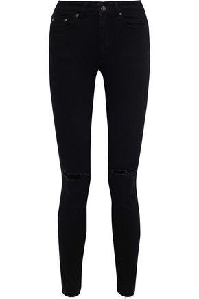ANINE BING Brodie distressed mid-rise skinny jeans