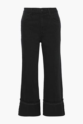 J BRAND Joan cropped high-rise wide-leg jeans