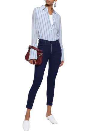 J BRAND Alana cropped zip-detailed high-rise skinny jeans