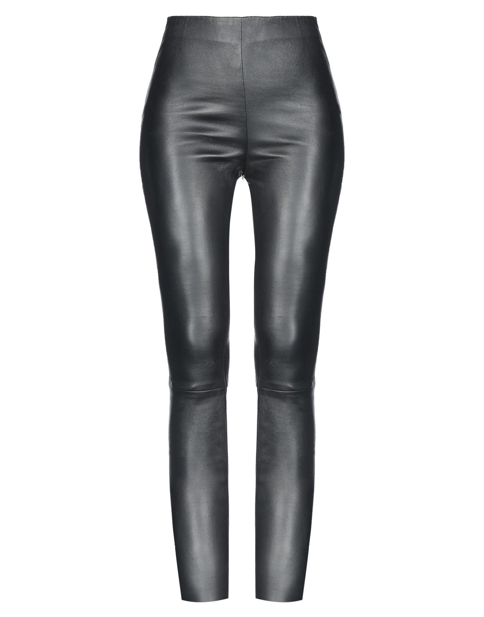 《送料無料》BY MALINA レディース パンツ ブラック XS 革