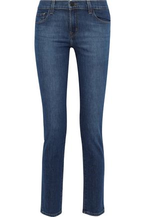 J BRAND Faded mid-rise slim-leg jeans