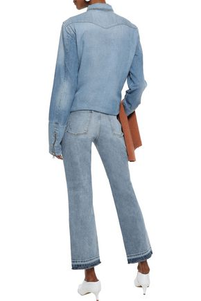 DL1961 Mara distressed mid-rise kick-flare jeans