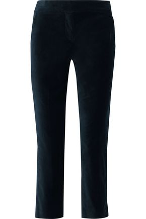 A.L.C. Harrison cropped cotton-blend velvet slim-leg pants