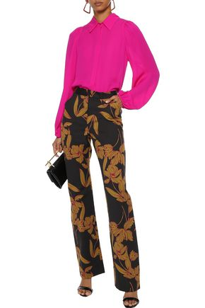 A.L.C. Vaughn printed wool-blend twill straight-leg pants