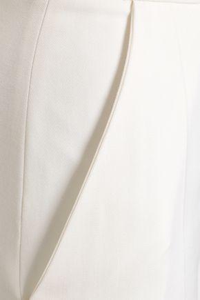 RACIL Two-tone grain de poudre wool wide-leg pants