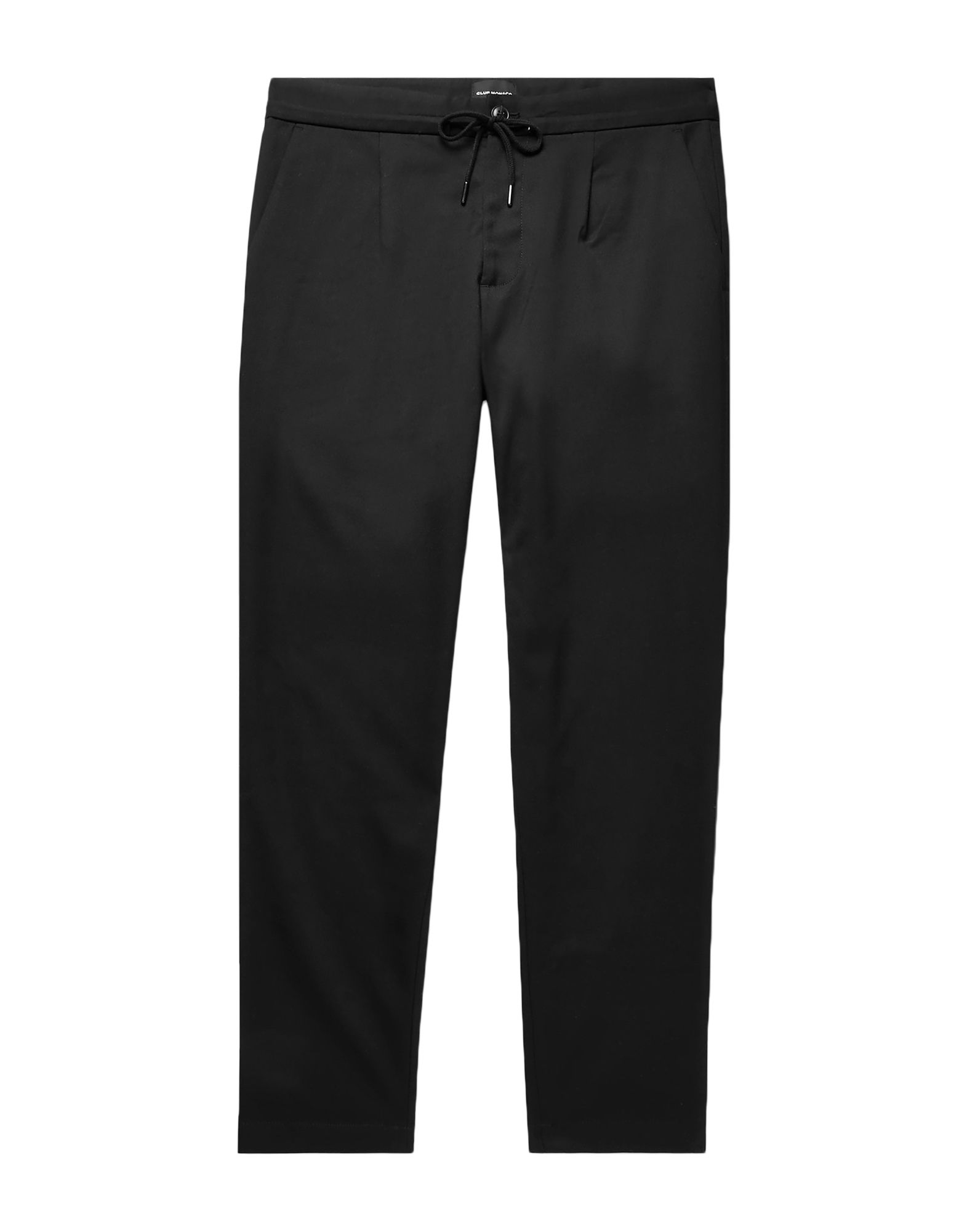 CLUB MONACO Casual pants. twill, solid color, regular fit, tapered leg, high waisted, button, zip, no appliqués, multipockets, stretch. 64% Polyester, 34% Viscose, 2% Elastane