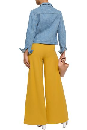 SIMON MILLER Ribbed cotton-blend wide-leg pants