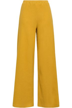 SIMON MILLER Ribbed cotton-blend wide-leg pants
