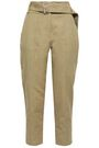 IRO Infelasa cropped linen and cotton-blend tapered pants