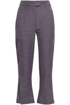 ANN DEMEULEMEESTER Linen and wool-blend twill kick-flare pants