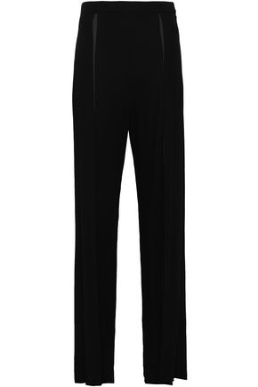 ANN DEMEULEMEESTER Leonora gathered crepe wide-leg pants