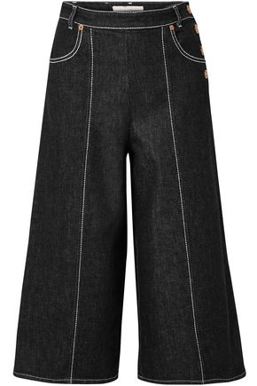 SEE BY CHLOÉ Button-detailed high-rise denim wide-leg jeans