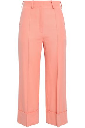 RACIL Cropped wool wide-leg pants
