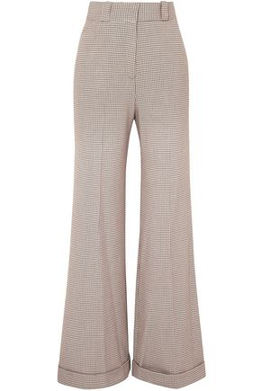 SEE BY CHLOÉ Checked tweed wide-leg pants