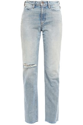 SIMON MILLER Pardee distressed high-rise straight-leg jeans