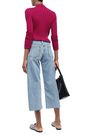 SIMON MILLER Marlo cropped frayed mid-rise wide-leg jeans