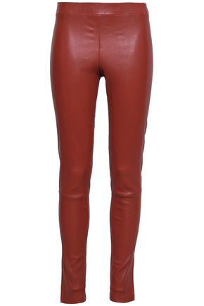 THEORY Adbelle stretch-leather leggings