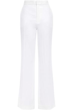 JOSEPH Satin-crepe wide-leg pants