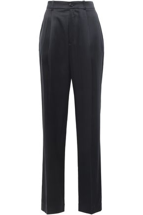 JOSEPH Silk-satin wide-leg pants