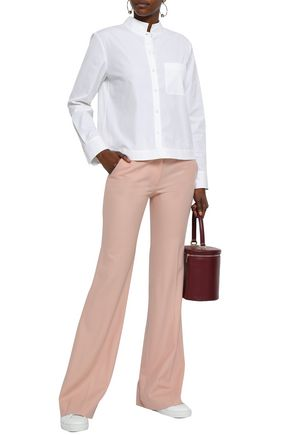 THEORY Wool-blend twill flared pants