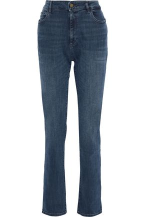DL1961 Coco faded mid-rise straight-leg jeans