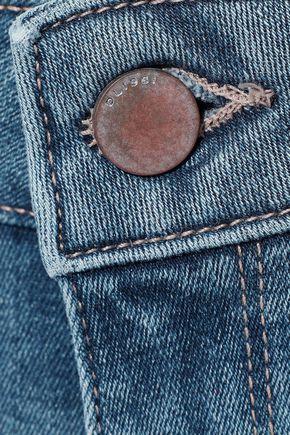 DL1961 Lara distressed mid-rise kick-flare jeans